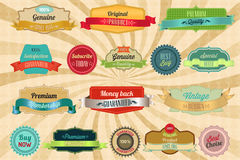 Retro labels and badges. For your print or web project royalty free illustration