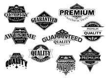 Retro labels and banners set Royalty Free Stock Photo