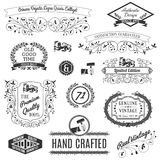 Retro Labels For Calligraphic Designs Royalty Free Stock Photography