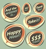 Retro labels collection stock illustration
