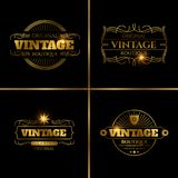 Retro labels design for vintage cards Royalty Free Stock Images