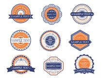 Retro labels and frames Royalty Free Stock Photo