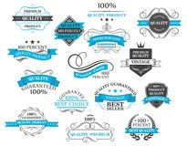 Retro labels, headers and calligraphic elements Royalty Free Stock Photos
