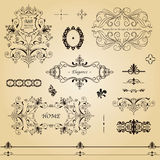 Retro labels. Intricate vector illustration Royalty Free Stock Photography