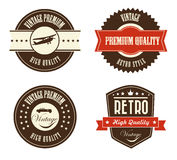 Retro labels Stock Images
