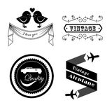 Retro labels Royalty Free Stock Photos