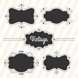 Retro labels set Stock Photography