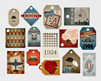 Retro labels. Set of different cool and stylish vintage tags. EPS10 Royalty Free Stock Photo