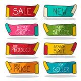 Retro Labels Set. Vector Business Stickers stock illustration