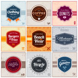Retro labels Royalty Free Stock Photography