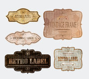 RETRO LABELS Stock Photos