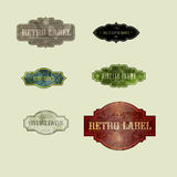 RETRO LABELS03 Royalty Free Stock Images
