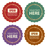 Retro labels set Stock Photo