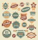 Retro labels and stickers collection vector illustration