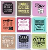 Retro labels and typography, Royalty Free Stock Image