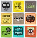 Retro  labels and typography, Royalty Free Stock Photos