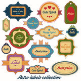 Retro labels vector collection Royalty Free Stock Photography
