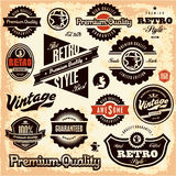 Retro labels. Vintage labels collection. Royalty Free Stock Images