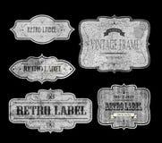 RETRO LABELS white Royalty Free Stock Photos