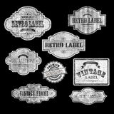 RETRO LABELS00white Stock Photography