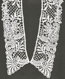 Retro lace collar. Royalty Free Stock Photo