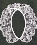 Retro lace collar. royalty free stock photos
