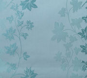 Retro Lace Floral Seamless Pattern Blue Fabric Background Vintage Style Stock Photography