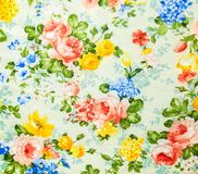 Retro Lace Floral Seamless Pattern on  Fabric Background Stock Image