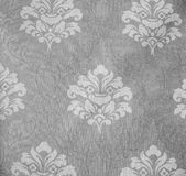 Retro Lace Floral Seamless Pattern Monotone Fabric Background Vintage Style Stock Photo