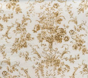 Retro Lace Floral Seamless Pattern Sepia Brown Fabric Background Vintage Style Stock Image