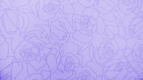 Retro Lace Floral Seamless Rose Pattern Purple Fabric Background Vintage Style Stock Photo