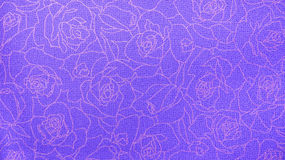 Retro Lace Floral Seamless Rose Pattern Purple Fabric Background Vintage Style Royalty Free Stock Photography