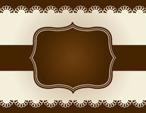 Retro lace pattern background Royalty Free Stock Photos