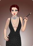 retro lady royaltyfri illustrationer