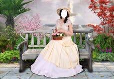 Retro lady royalty free stock photo