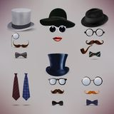 Retro Lady and Gentlemen vector illustration Royalty Free Stock Photography
