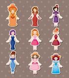 Retro lady stickers Stock Photos