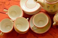 Retro lali herbaty set robić biała porcelana Set rocznik zabawki Obraz Royalty Free