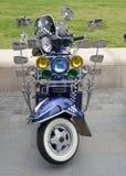 Retro Lambretta för tappning motorisk sparkcykel Royaltyfria Foton