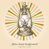 Retro Lamp Background Royalty Free Stock Images