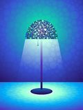 Retro lamp background Royalty Free Stock Photo