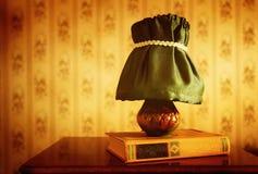 Retro lamp and book Stock Image