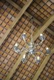 Retro lamp hanging in coffee shop Stock Image