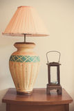 Retro lamp in the room Stock Photography