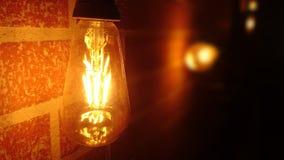 Retro lampadina del adeson Immagini Stock