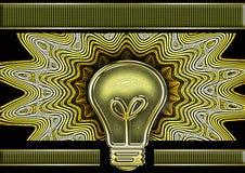 Retro- Lampe stock abbildung