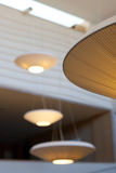 Retro lampor på taket royaltyfri bild