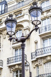 Retro lamppost in Paris, France Royalty Free Stock Images