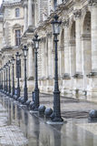 Retro lampposts in historic Paris, France Royalty Free Stock Images