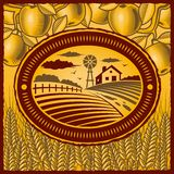 Retro landbouwbedrijf Royalty-vrije Stock Fotografie